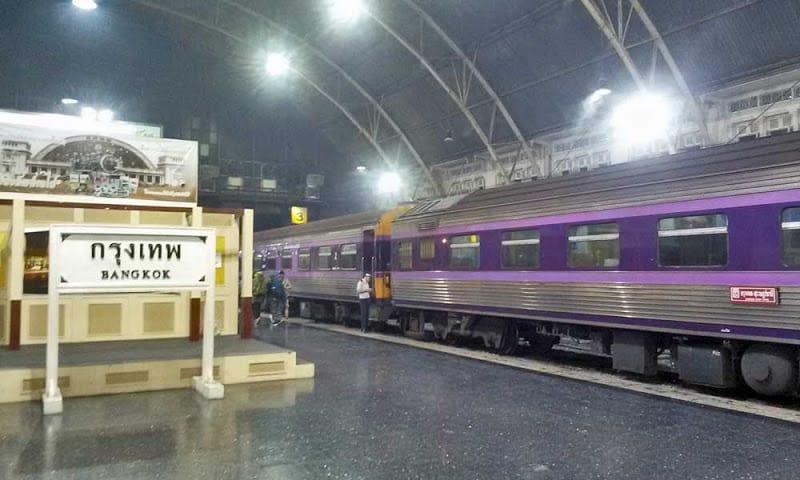 Estação de comboio em Bangkok