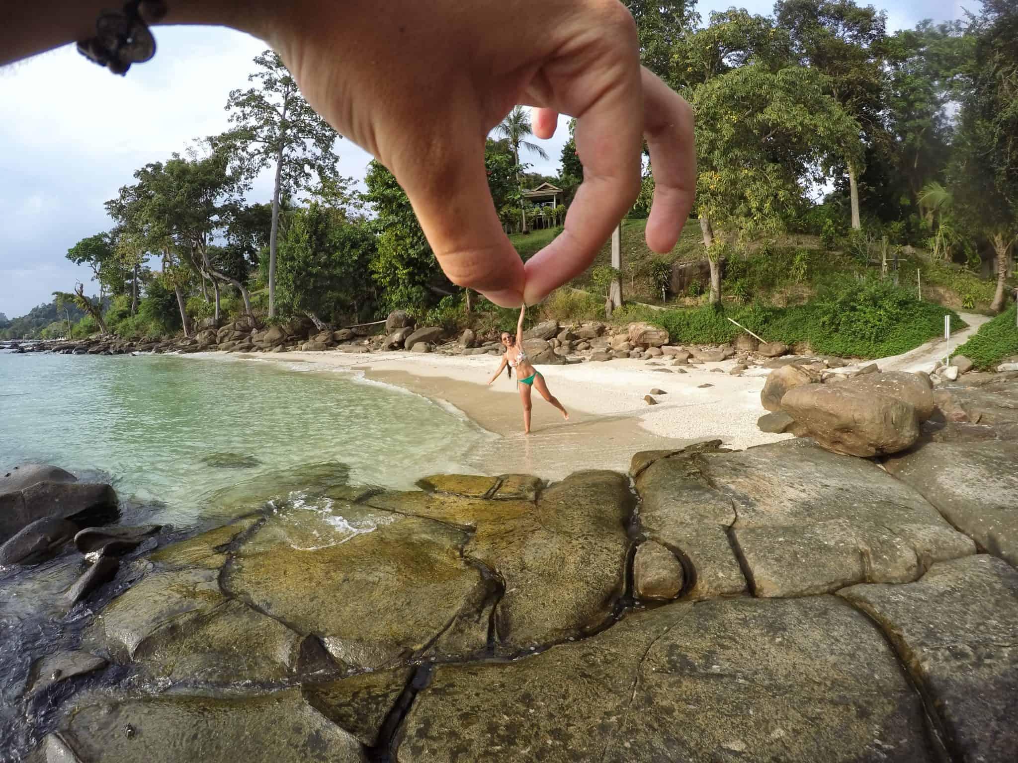 Pequena praia privada do hotel