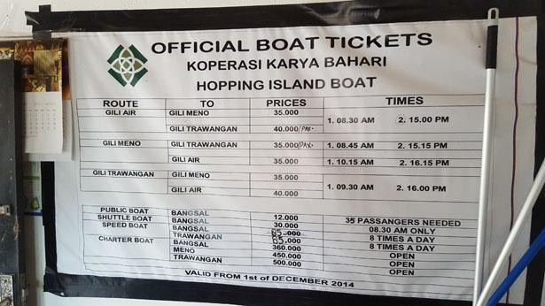 barco público ilhas gilis