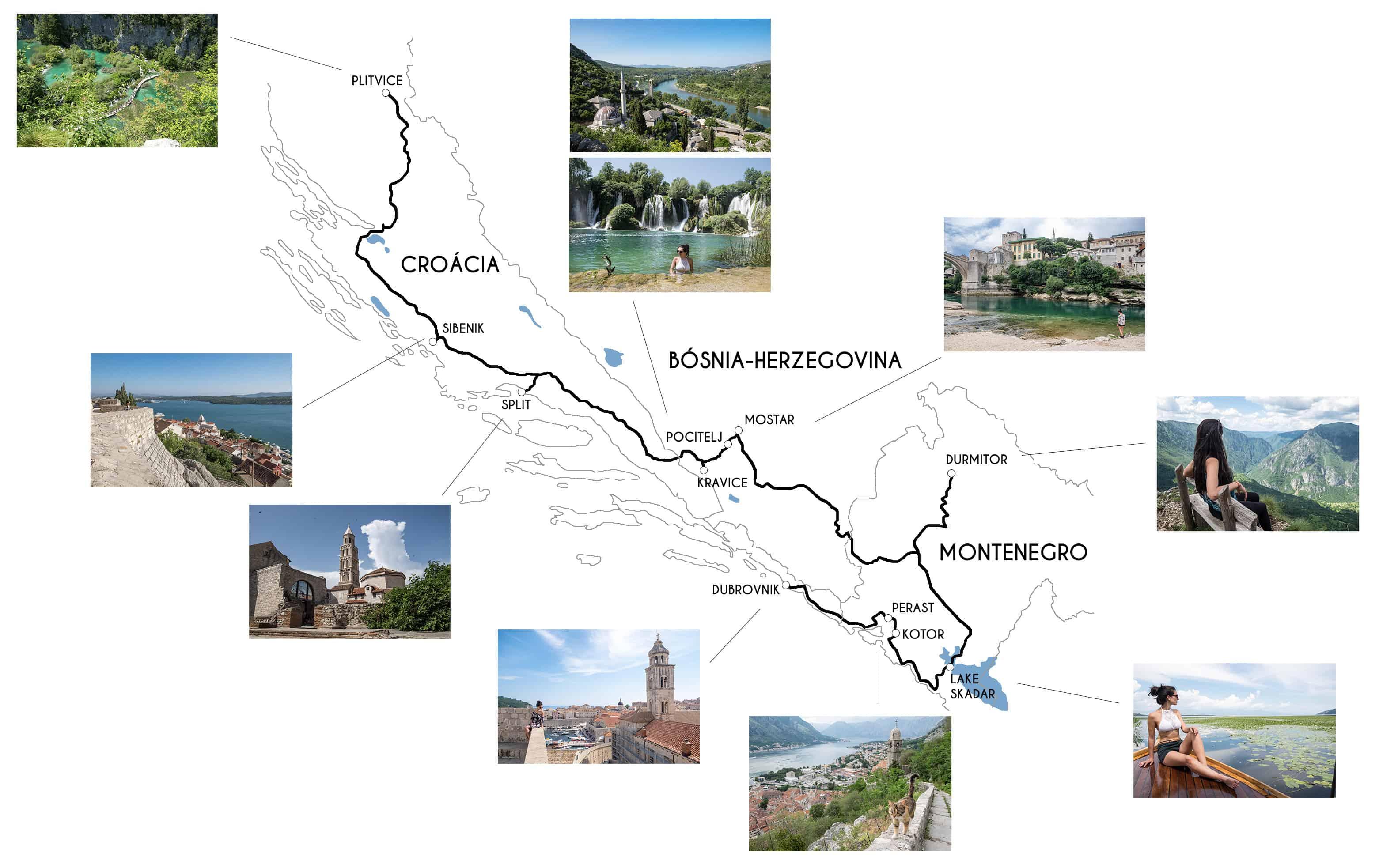 roadtrip balcãs itinerário
