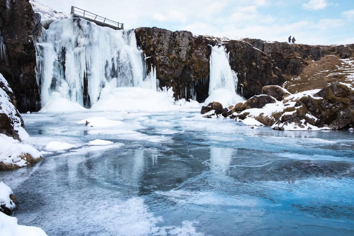 islandia inverno cascata