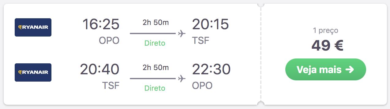 voo porto veneza