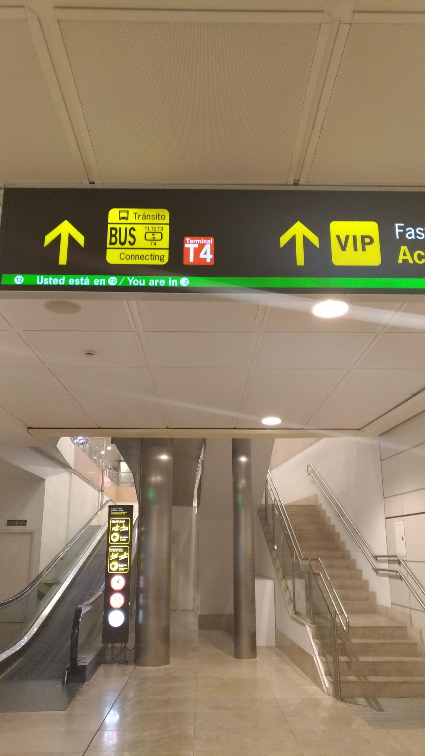 aeroporto madrid para o centor