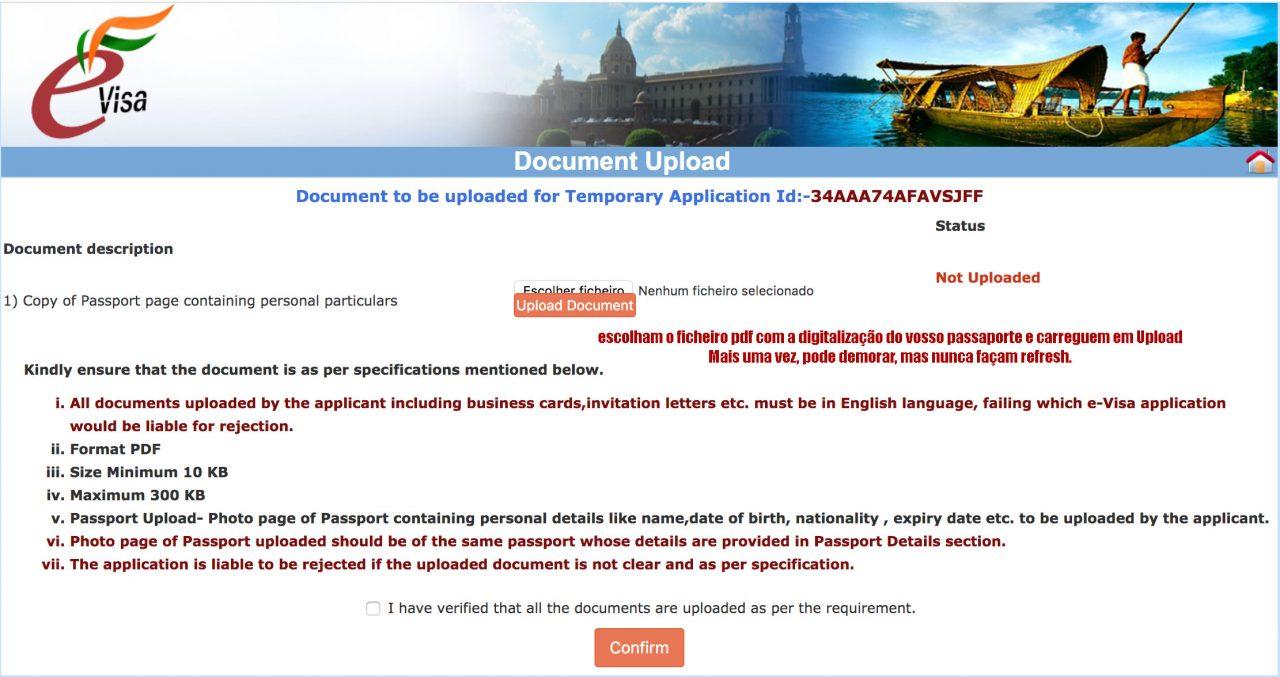 passaporte visto índia