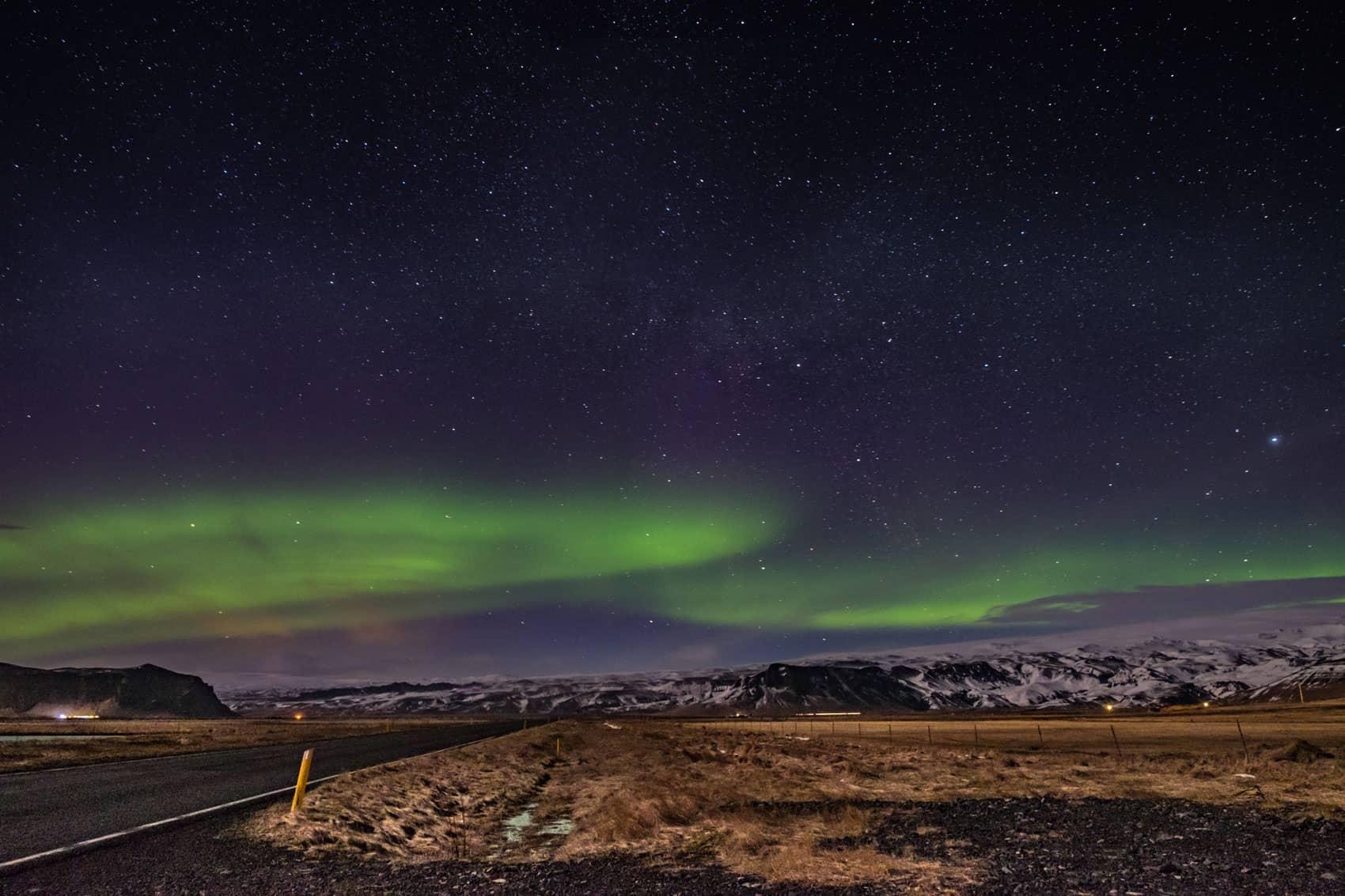 northen lights iceland