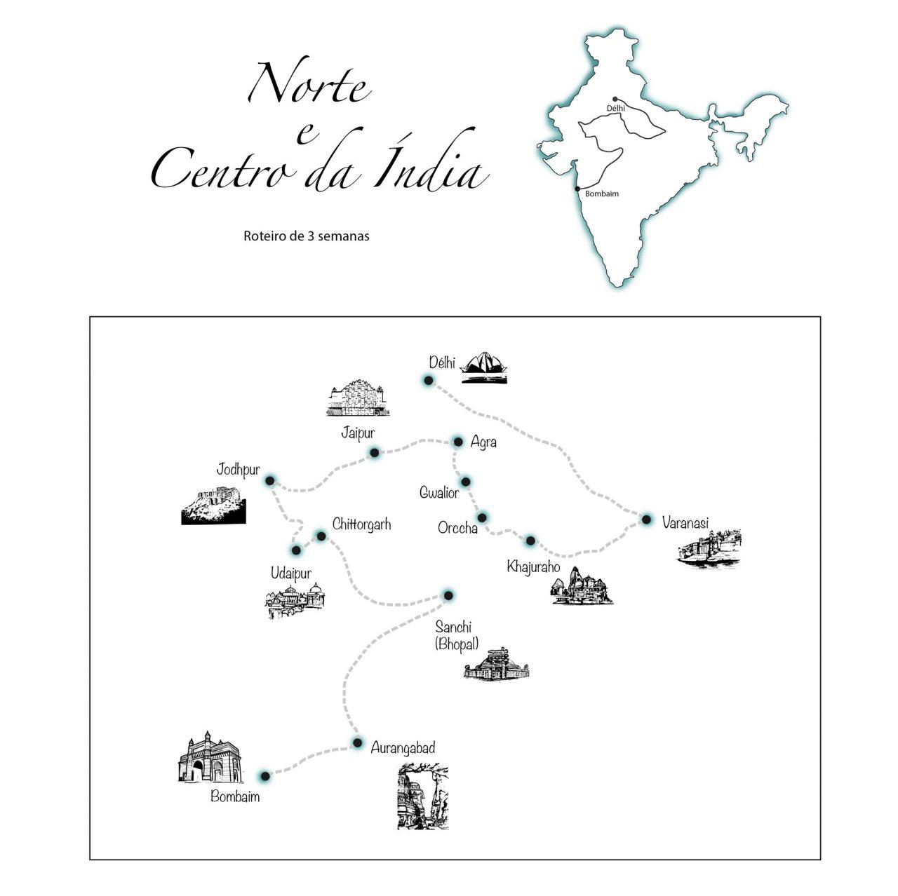 itinerario 3 semanas india