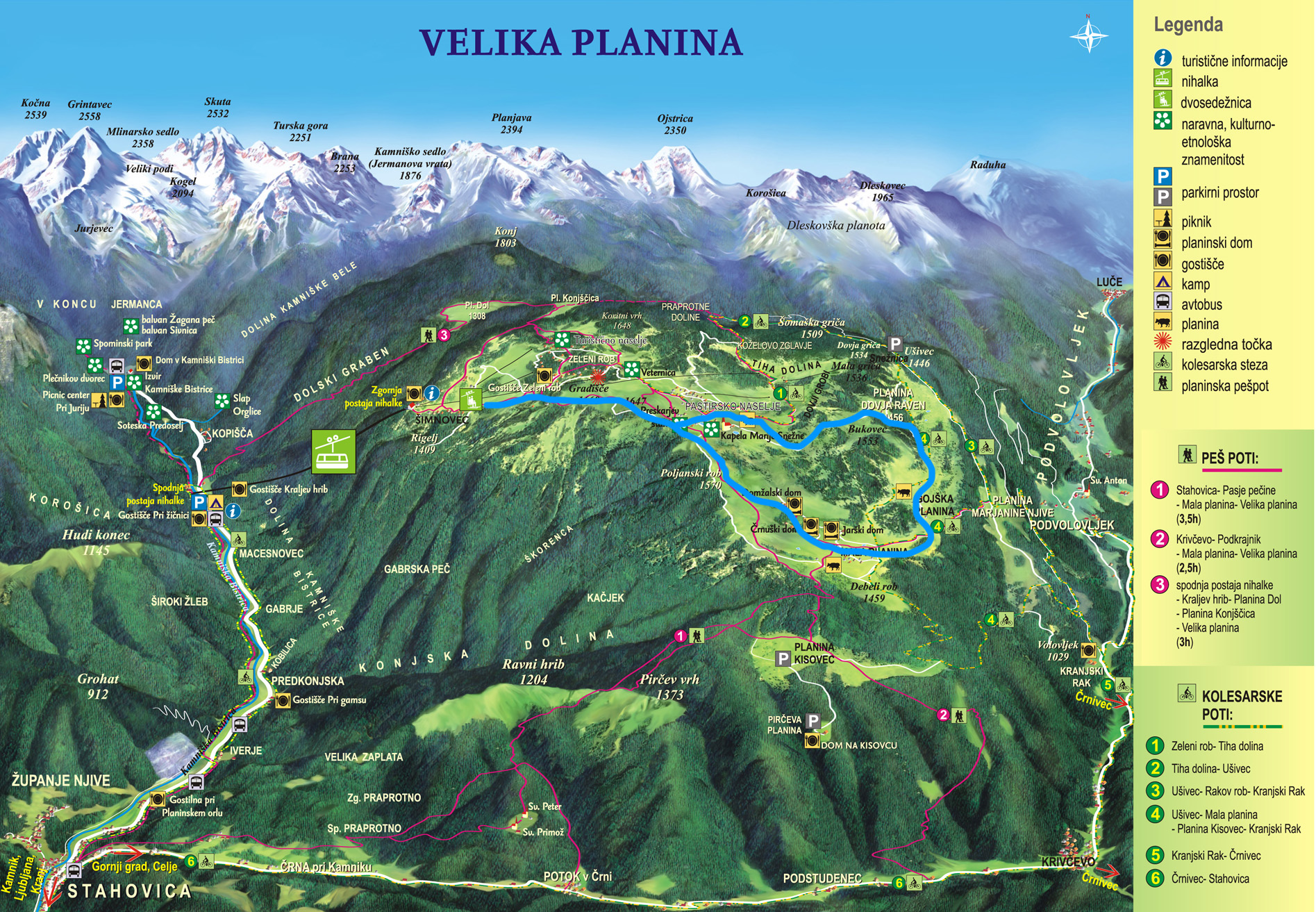 mapa velika planina