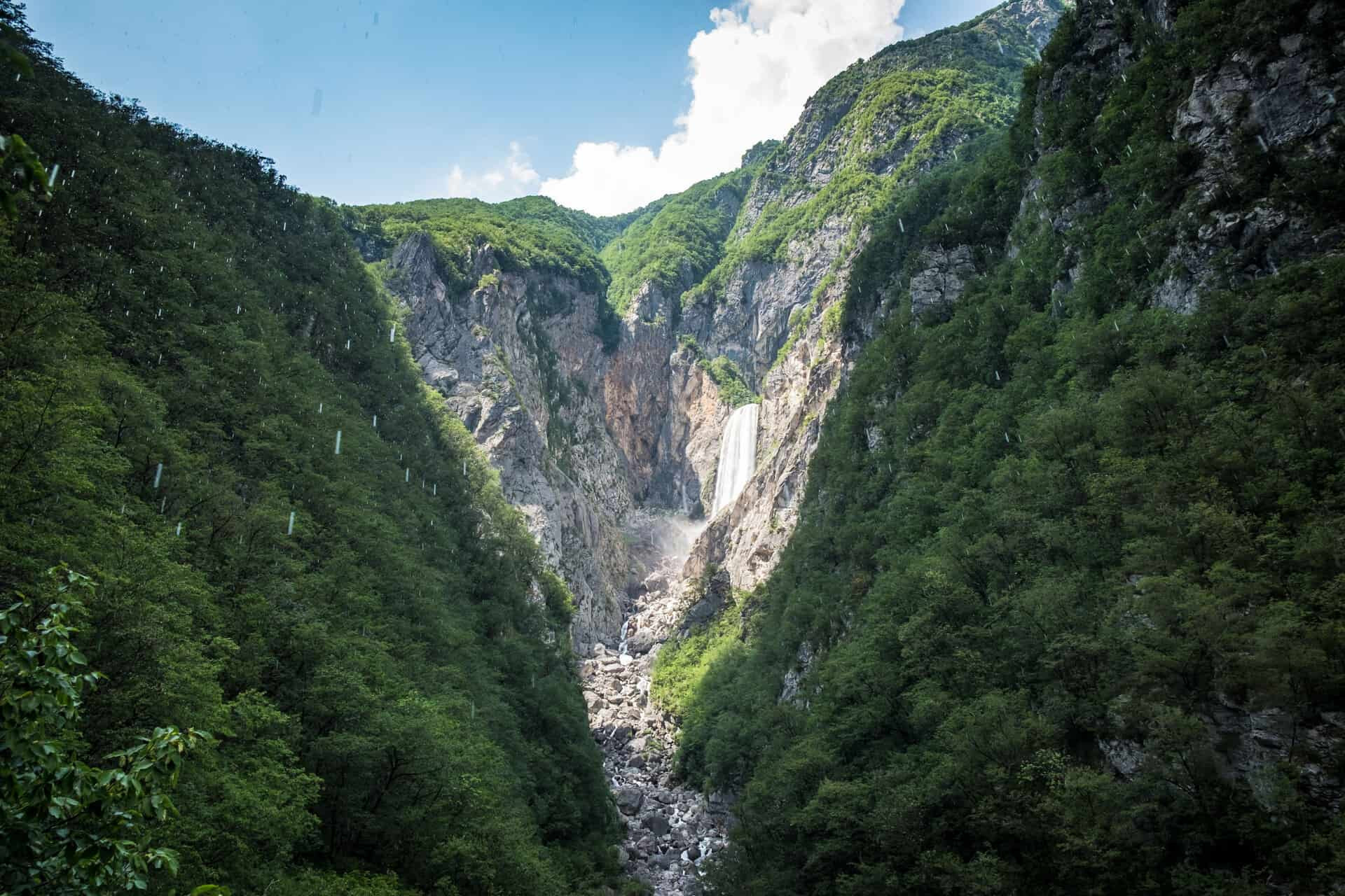 bovec waterfall