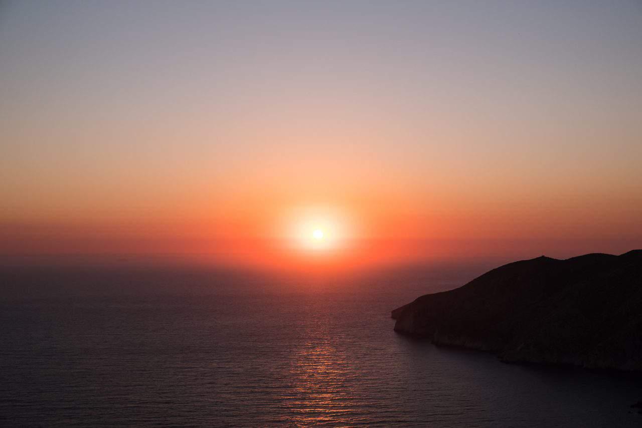 pôr do sol kampi zakynthos